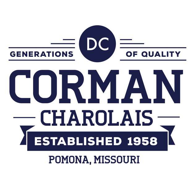 Corman Charolais logo - est. 1958